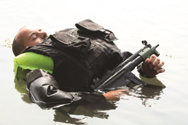 Visitors to the DSA 2014 Defence Services Asia Exhibition in Kuala Lumpur, Malaysia, (14-17 April 2014) will be able to see for themselves an inflatable body armour system which is proving extremely popular with Navies and Coastguards worldwide.