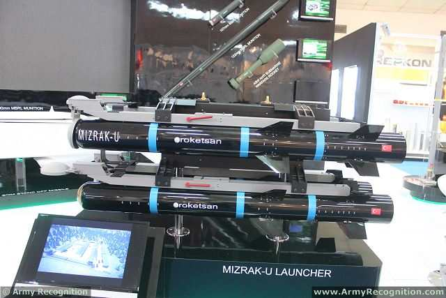 "Today the Turkish Company Roketsan is developing and manufacturing new-generation smart missiles that are completely indigenous and which have high potential on the world defence market. These comprise the Cirit 2.75"" laser-guided missile, Mizrak-U long-range anti-tank missile, Mizrak-O medium-range anti-tank missile and missile launching systems, SOM (Stand-Off Missile), Hisar low- and medium-altitude air defence missile, extended-range surface-to-surface multi-calibre artillery rockets (300mm, 122mm and 107mm) and the ASW (Anti-Submarine Warfare) rocket."