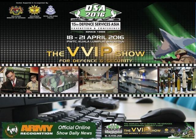 Army Recognition appointed by DSA 2016 organizers as Official Online Show Daily and Official Web TV 640 001