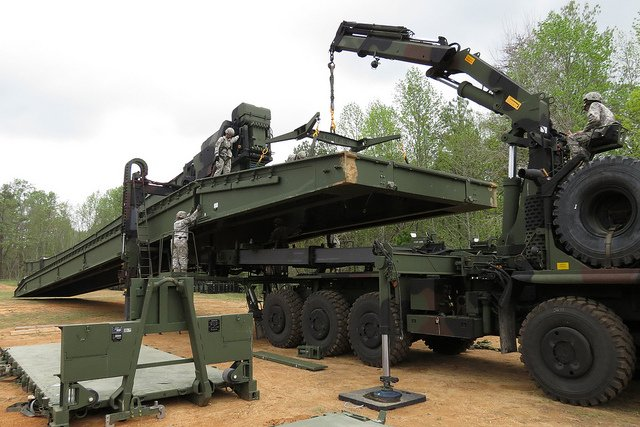 British company WFEL presented us its Dry Support Bridge tactical military bridging 640 002