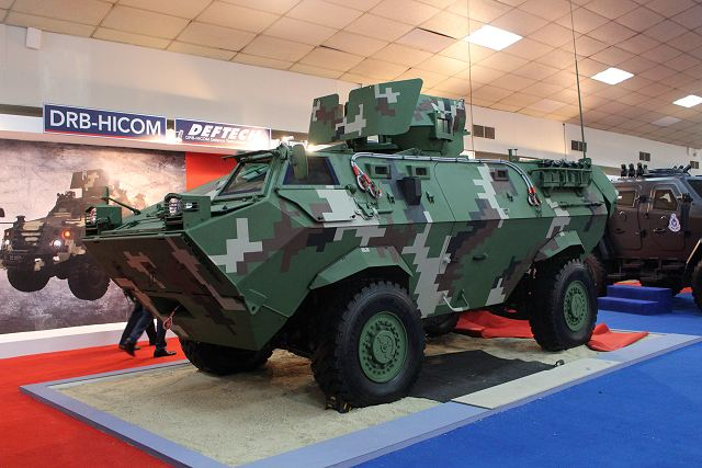 Deftech proposes an upgrade version of Condor 4x4 armoured personnel carrier to Malaysian army 640 001
