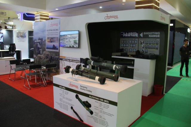 Instalaza from Spain showcased its new C90 CS man portable anti tank missile system at DSA 640 002