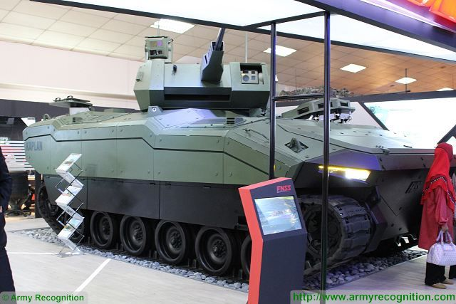 New generation of armoured fighting vehicle FNSS Kaplan-20 makes its debut in Asia at DSA 2016 640 001