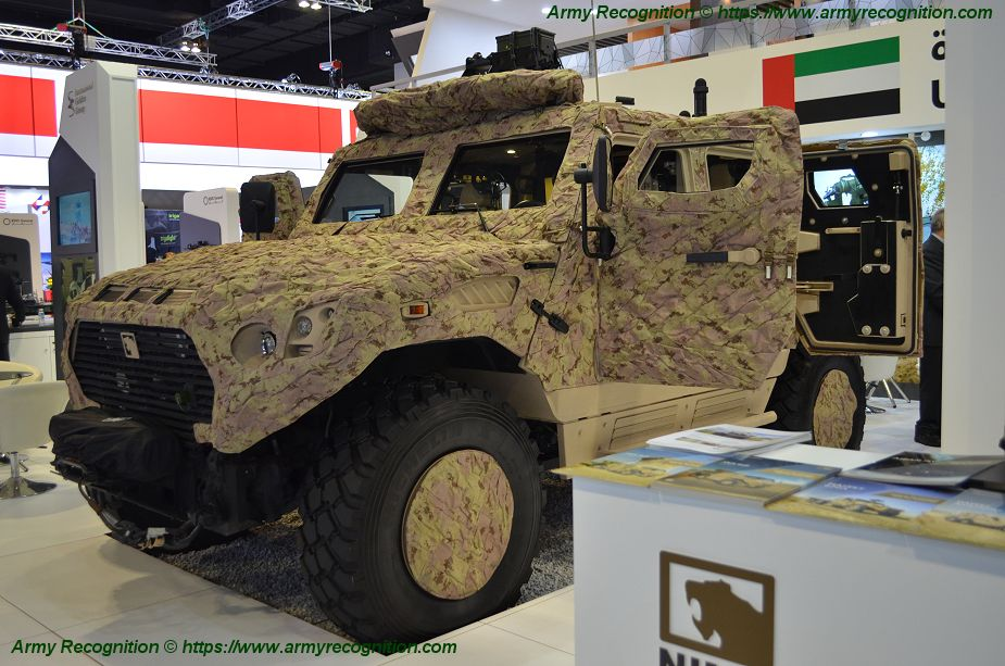 EDIC NIMR Ajban LRSOV and Ajban 440A combat vehicles at DSA 2018 925 002