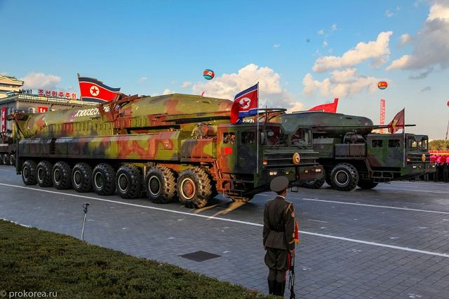 KN-08 No-dong-C Hwasong-13 ICBM intercontinental ballistic missile North Korea Korean army defense industry 640 002