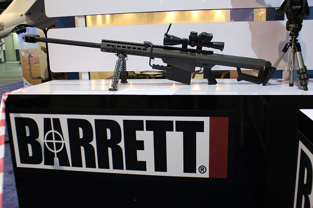 The American Company Barrett Fireams wants to expand its commercial presence in the Asian region with its complete range of large-caliber rifles. At IDEAS 2014, the International Defense Exhibition in Pakistan, the Company has presented the Model 82A1, semi-automatic .416 caliber rifle.