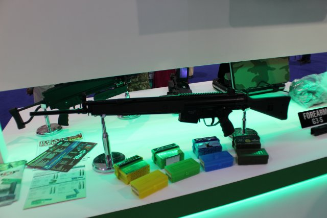 At IDEAS 2014, which is held in Karachi from 1st to 4th December, Pakistan Ordnance Factories, leading manufacturer in small arms and ammunitions, is unveiling three new products for civilian and military uses: the G3S .308 WIN dedicated to hunting and shooting sports, and the POF-4 Pistol 9x19mm and the POF-5 9x19mm, both optimized for security and military uses.