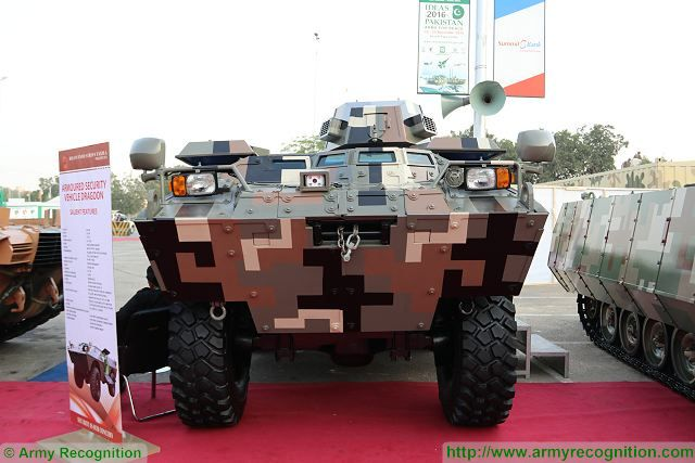 Dragoon 2 4x4 APC Heavy Industries Taxila IDEAS 2016 defense exhibition Karachi Pakistan 640 001