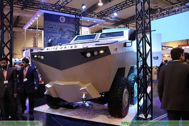 Hamza 8x8 MRAP vehicle armoured personnel carrier Blitzkrieg IDEAS 2016 Karachi Pakistan 640 001