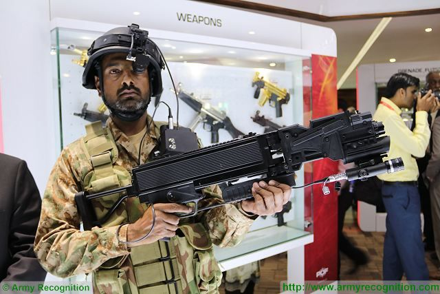 POF Eye weapon system to fire on corner IDEAS 2016 Defense Exhibition Karachi Pakistan 640 001