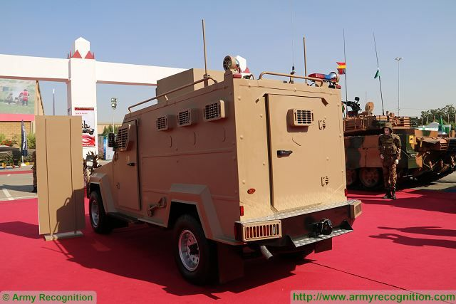 At IDEAS 2016, the International Defense Exhibition in Karachi, Pakistan, the State Company Heavy Industries Taxila unveils its new 4x4 armoured security vehicle Protector based on a commercial vehicle chassis Toyota Land Cruiser.