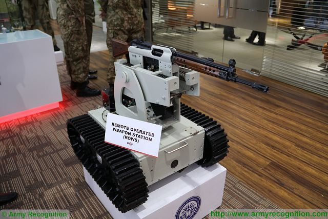 ROWS Remote Operated Weapon Station POF IDEAS 2016 defense exhibition Karachi Pakistan 640 001