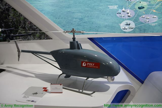 UZ-5E unmanned helicopter Poly Defence China defense industry IDEAS 2016 Karachi Pakistan 640 001