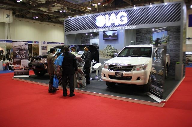 International Armored Group IAG of UAE introduces in Asia Toyota armoured cars at APHS 2015 640 001