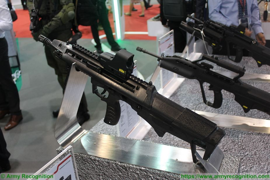 New ST Kinetics BR18 5 56mm caliber bullpup assault rifle at Singapore AirShow 2018 925 001