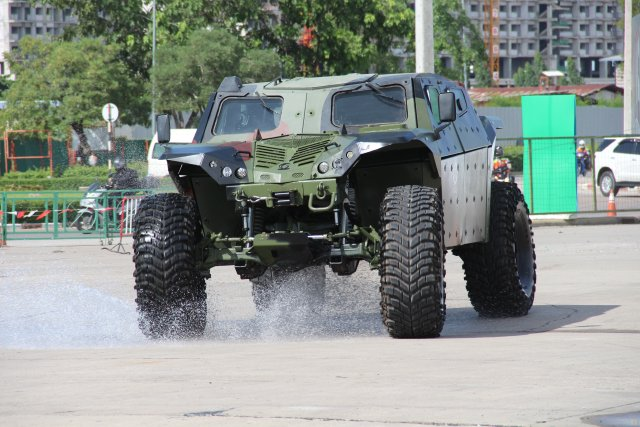IMI is demonstrating its high mobility armored combat vehicle at Defense and Security 2015 640 001