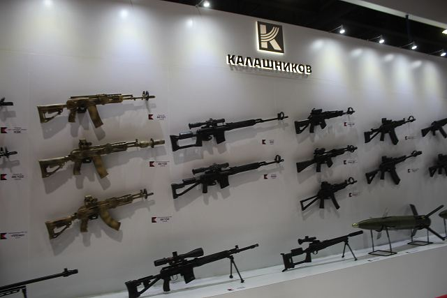 Kalashnikov Concern Russia assault rifle Defense and Security 2015 exhibition Thailand Bangkok 640 001