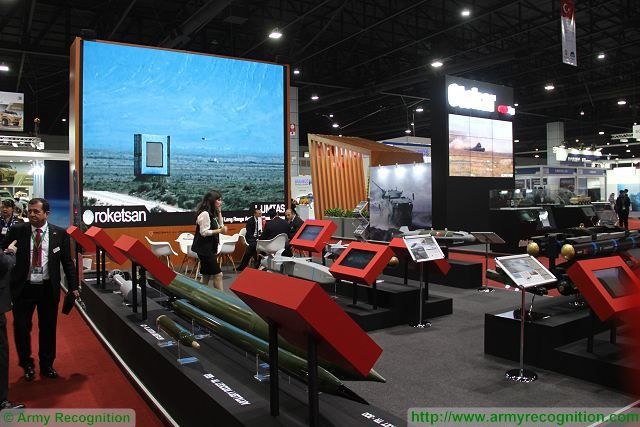 Roketsan missiles rockets Defense and Security 2015 exhibition Thailand Bangkok 640 001