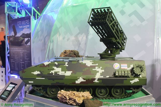 T-85 DTI 122mm MLRS multiple launch rocket system Defense and Security 2015 exhibition Thailand Bangkok 640 001