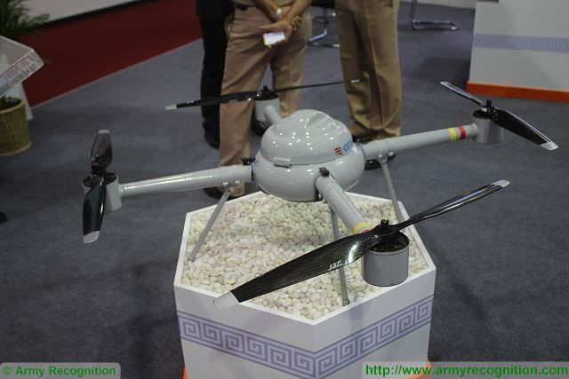 Yunyi four rotors UAV CETC 54 Defense and Security 2015 exhibition Thailand Bangkok 640 001