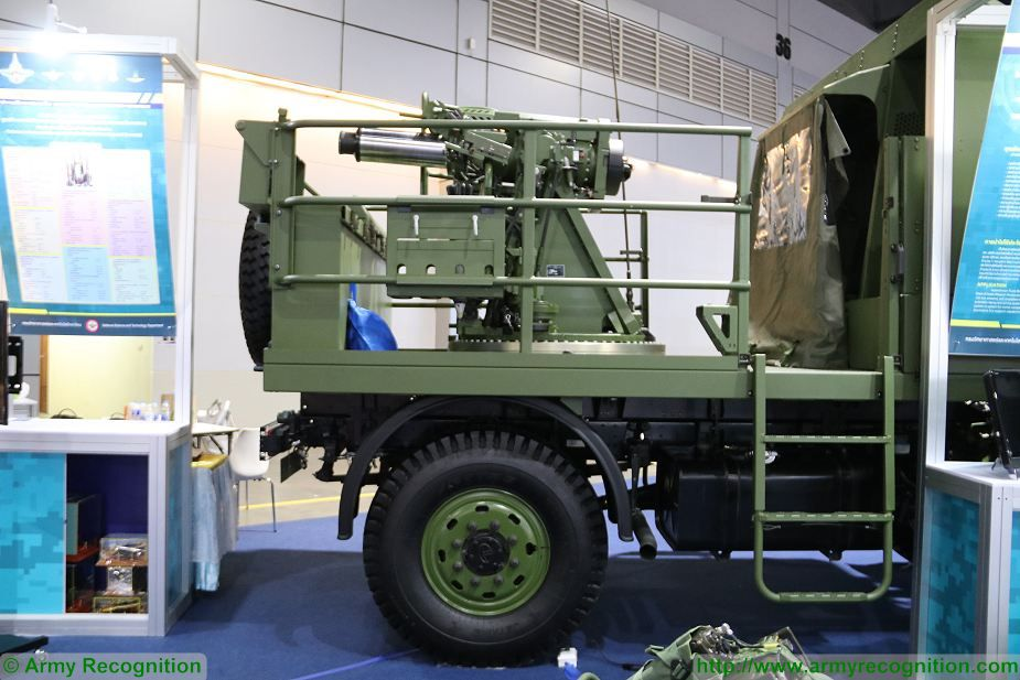 ATTM Autonomous Truck Mounted Mortar 120mm developed by Thailand Defense and Security Thailand 2017 in Bangkok 925 002