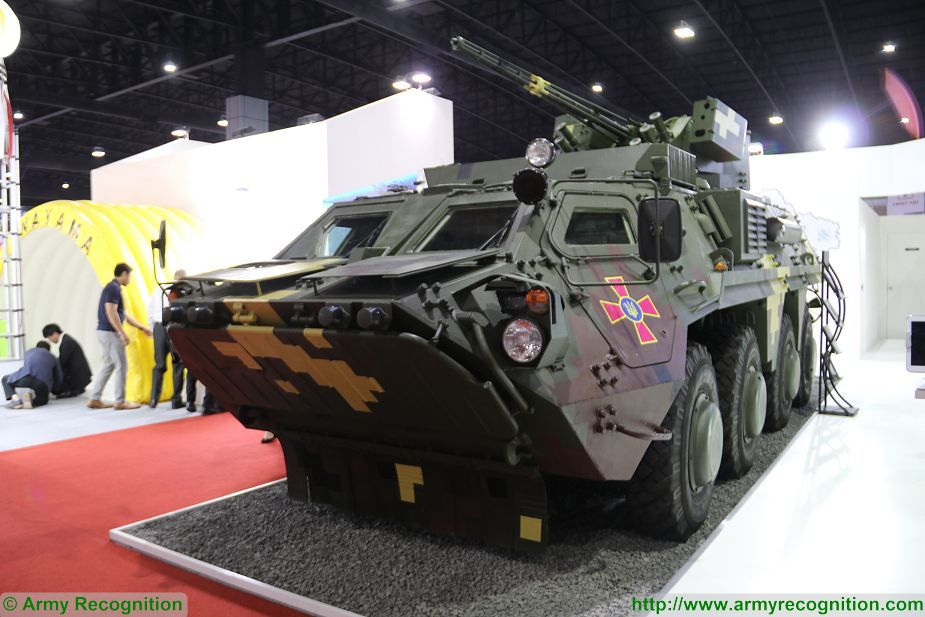 BTR 4E 8x8 armoured vehicle Ukraine Defense and Security 2017 Exhibition Thailand Bangkok 925 001