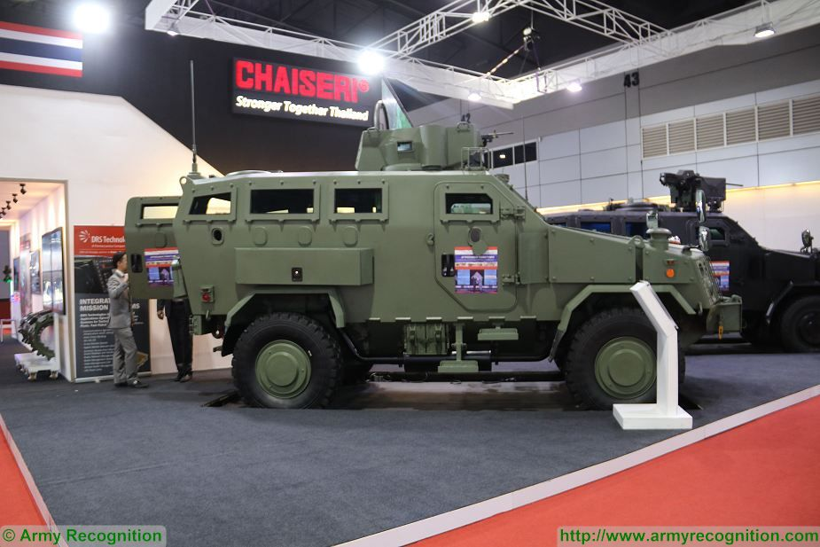 First Win 2 4x4 armoured Chaiseri at Defense and Security Thailand 2017 in Bangkok 925 001