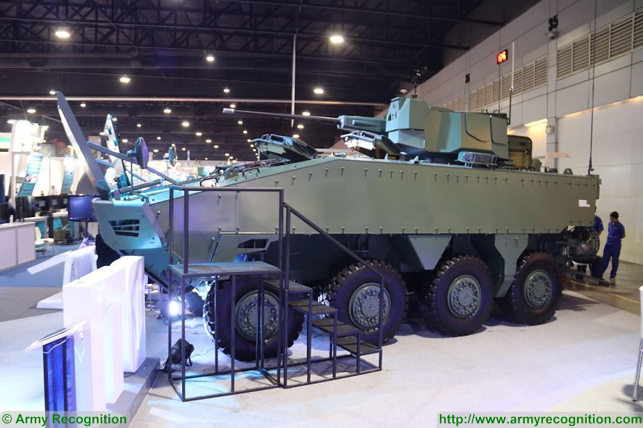 New AAPC 8x8 Amphibious Armoured Personnel Carrier for Thai Marine Corps at Defense and Security 2017 Thailand exhibition Bangkok 925 001