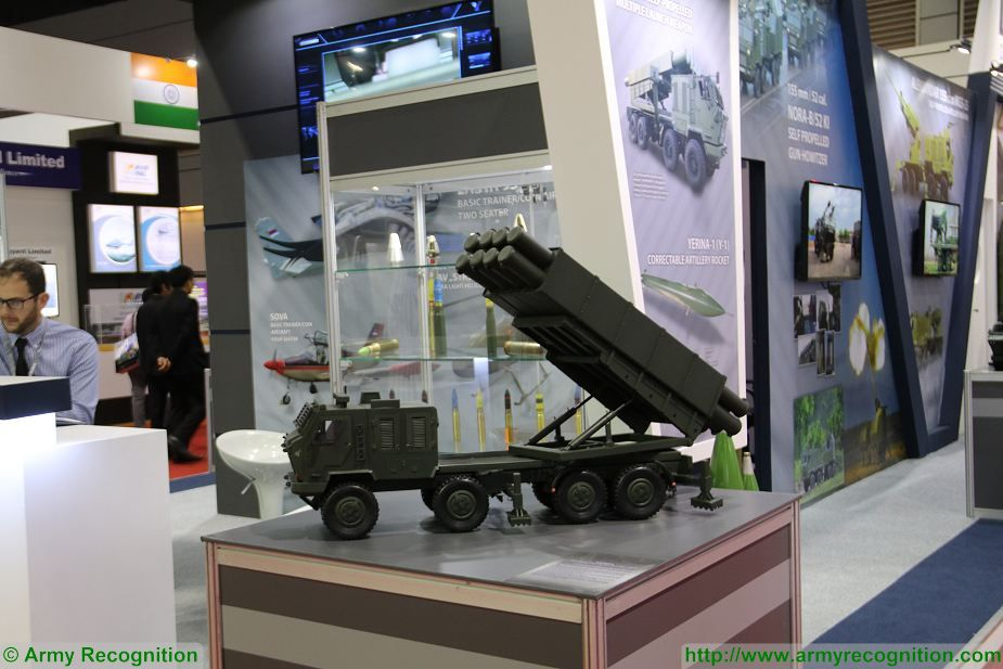 Sumadija multi caliber MLRS Yugoimport at Defense and Security Thailand 2017 in Bangkok 925 001