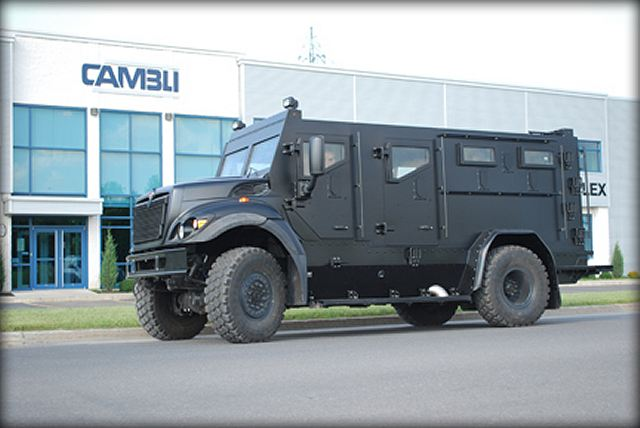 Thunder 1 Cambli tactical armoured truck Police Department Canada Canadian defense industry 001