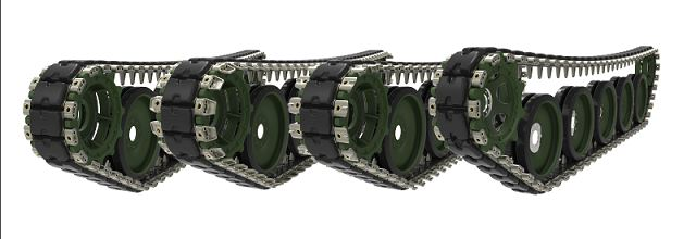 Chaiseri has been making track systems for armoured vehicles since 1988, with a range of track shoe, road wheel, idler wheel, sprocket ring and support rollers for many vehicles.