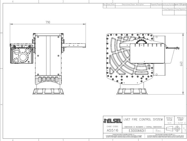 ELSEL remotely controlled dual weapons system technical drawing 640 002