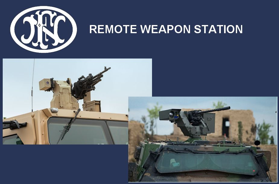 Remote Weapon Station RWS deFNder light medium Belgium Belgian defense industry 925 001