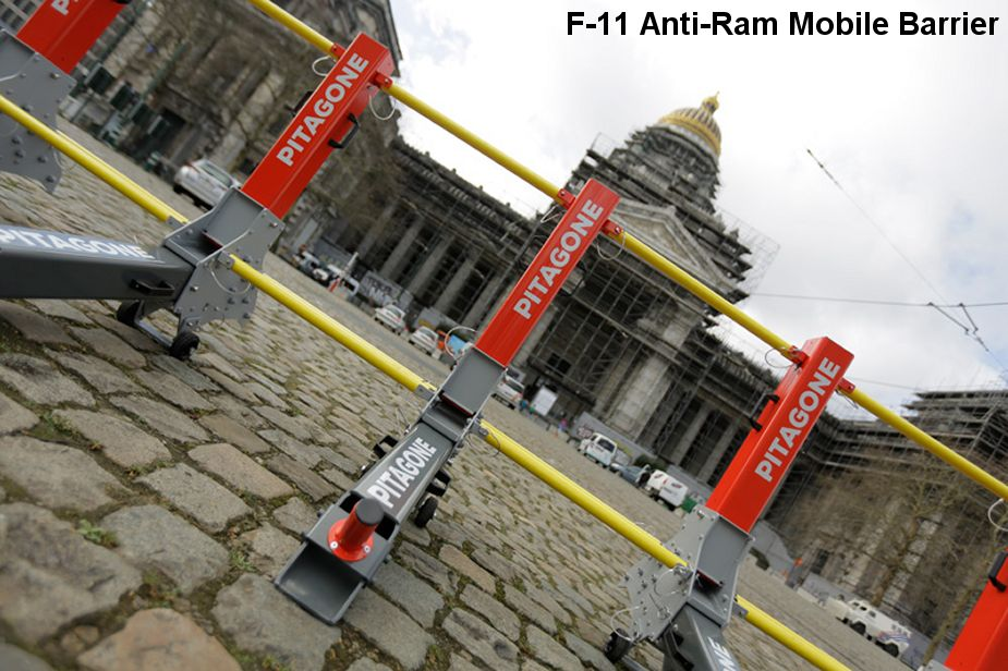 F 11 anti ram mobile barrier Mobile Hostile Vehicle Mitigation Pitagone MHVM Belgium 925 001