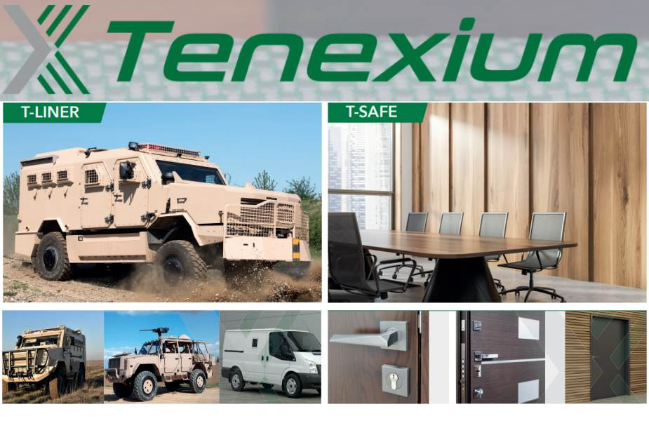 Tenexium ballistic protection and armored solutions for vehicles andoffice walls
