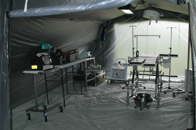 UTILIS shelters can be over pressurized to accommodate a sterile surgery environment, and under pressurized to accommodate patient isolation systems. The interconnectivity of the UTILIS shelters can provide an entire hospital operation essentially under one roof.