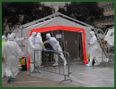 Modular decontamination units are intended for decontamination of walking/non-walking victims in a situation of chemical, biological, nuclear or industrial accident, terrorist attack or war. UTILIS decontamination systems are easily transportable to where they are needed, and provide facilities for continuous decontamination in the shortest possible time.