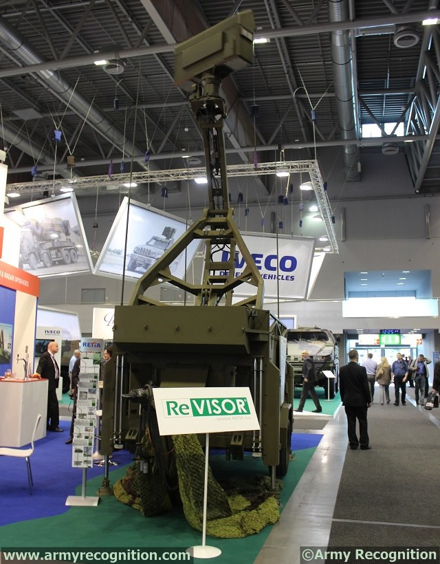 At IDET 2013, the defence exhibition currently held in Brno, Czech Republic, Czech Company RETIA unveils for the first time a new short range radar system. Short range radar ReVISOR is a basic radar sensor for battlefield airspace survey.