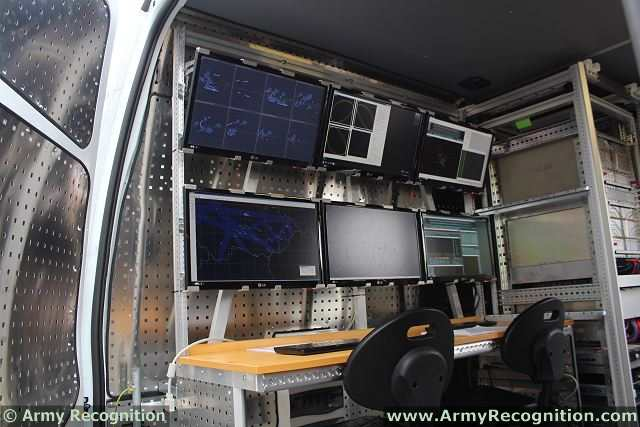 Inside view of the ERA Silent Guard vehicle.