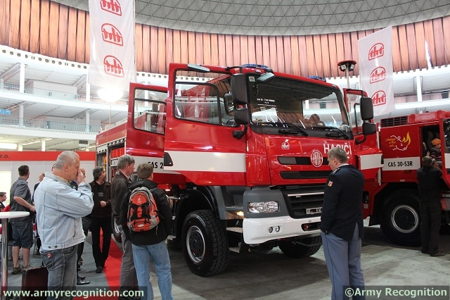 Firefighting special truck TATRA PHOENIX 4x4 with crew-cab at Pyros/ISET 2013