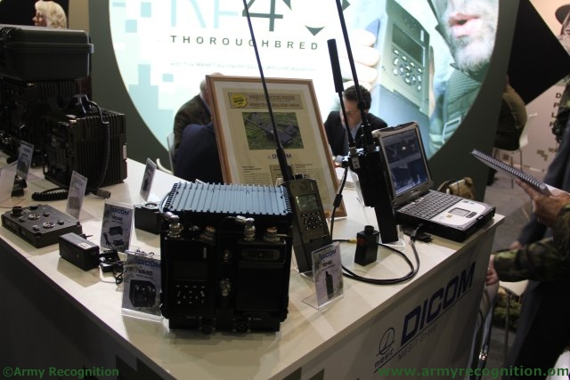 For the first time in Europe Dicom highlights its RF40 Thoroughbred tactical communication system 640 001