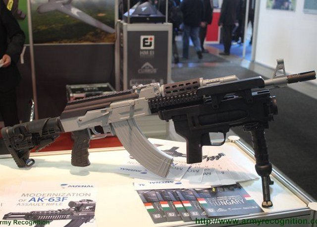 IDET 2015 ARZENAL showcases modernized version of the AK 63F assault rifle 640 002