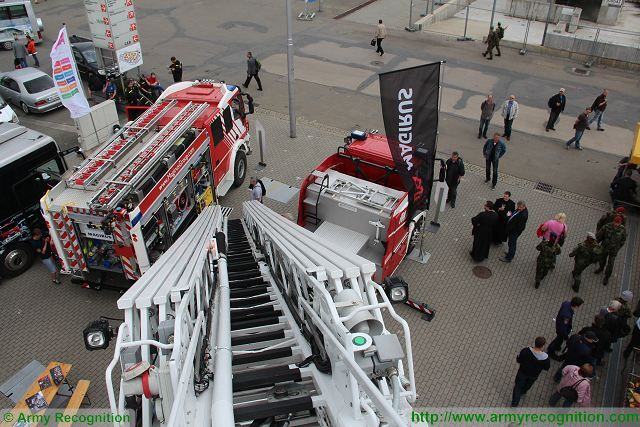 Magirus trucks highest ladder in the world Pyros Police and Fire Fighting Equipment Brno Czech Republic 640 001