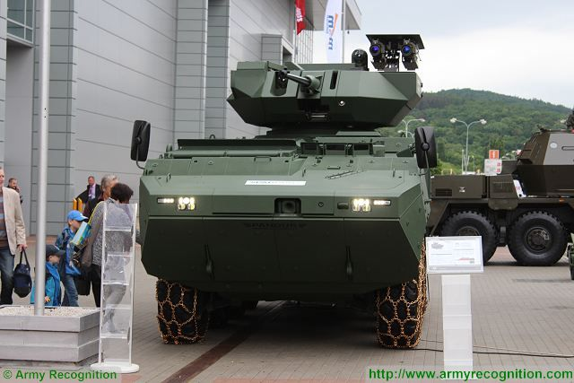 Pandur II Rafael turret Samson Mk II IDET 2015 International Exhibition Defence Security Technologies 001