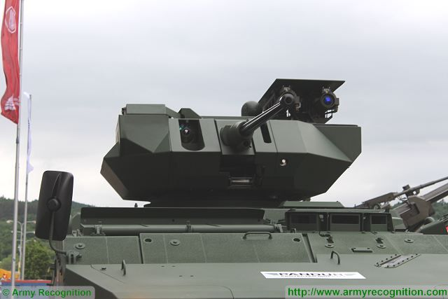 At IDET 2015, the International Exhibition of Defence and Security Technologies, Czech Company Excalibur presents a joint project with Rafael of Israel based on Pandur II 8x8 armoured personnel carrier fitted with a remote weapon station Rafael Samson Mk II armed with one 30mm automatic cannon and anti-tank missile launchers.