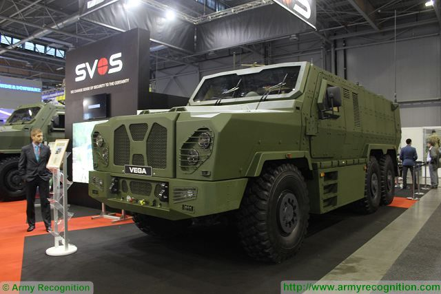 SVOS Vega 6x6 MRAP armoured personnel carrier IDET 2015 Czech Brno defense exhibition 001