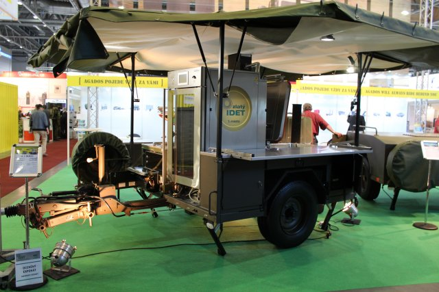 Agado mobile field kitchen IDET 2017
