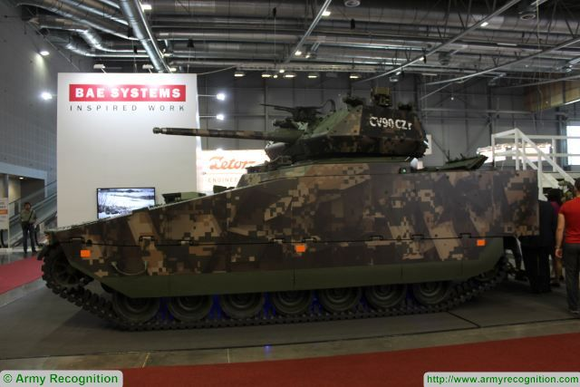 BAE Systems is exhibiting two CV90 Infantry Fighting Vehicles (IFVs) at the International Fair of Defence and Security Technology (IDET) in the Czech Republic.