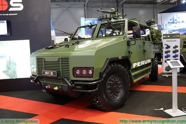 Czech Company SVOS unveils its new PERUN 4x4 light vehicle in special forces configuration at IDET 2017, the the International Defence and Security Technologies Fair in Czech Republic. The vehicle will enter in service with the Czech Special Forces, and four vehicles wil be delivered in the next few months.