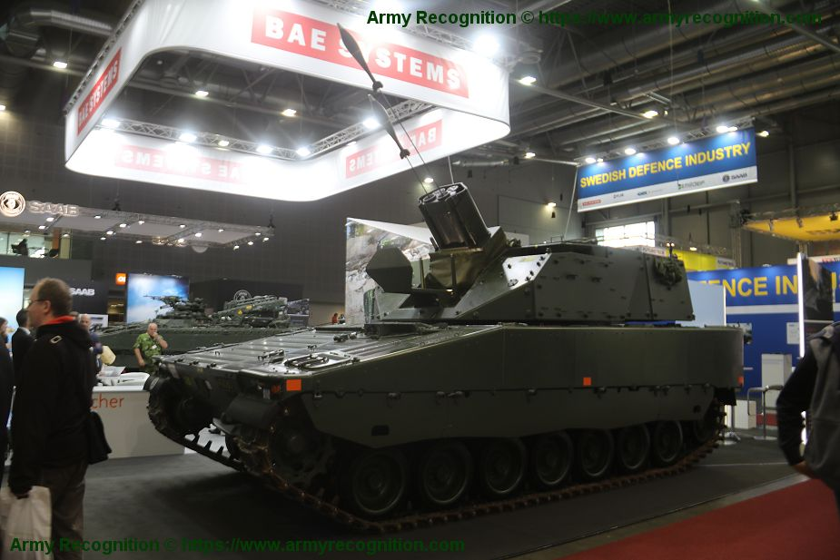 CV90 Mjolner BAE Systems self propelled mortar carrier armored IDET 2019 925 001